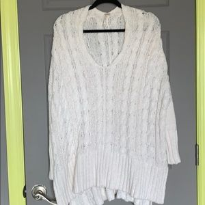 Free people white oversized sweater